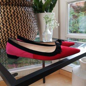 Prada Ballerinas with Toecap red-raspberry-red