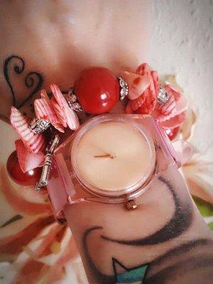 Rot Pinkes Armband Muschelarmband Retro Style