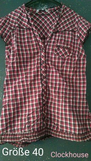 Rot-schwarz karierte Bluse