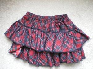 Queen of Darkness Broomstick Skirt black-red