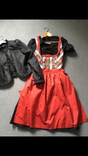 Rot schwarz kariertes Dirndl in Größe 34