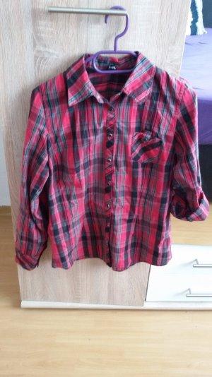 Rot Schwarz Kariertes Hemd