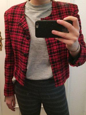 rot-schwarz-karrierte TWEED Jacke