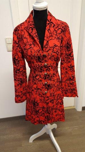 rot-schwarzer H & R London Mantel