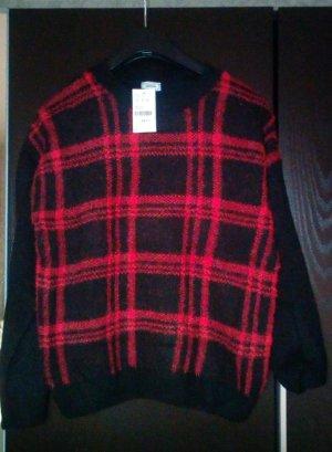 Rot/schwarzer Pullover