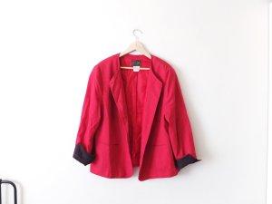 rot schwarzer true Vintage Blazer Janker Gr. 46 oversize 40