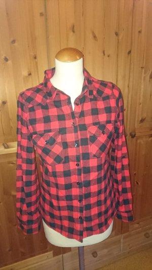 Chemise de bûcheron noir-rouge