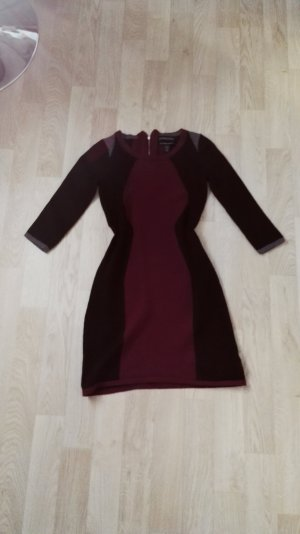 Rot Schwarzes Merino Kleid