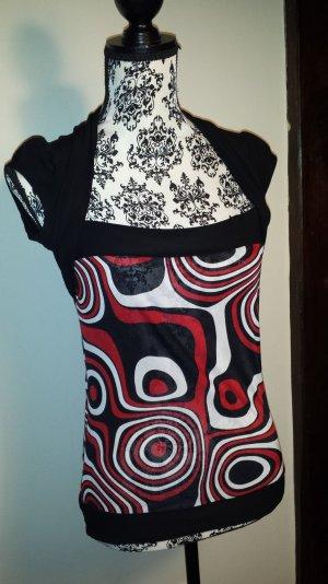 rot schwarzes Shirt Clockhouse