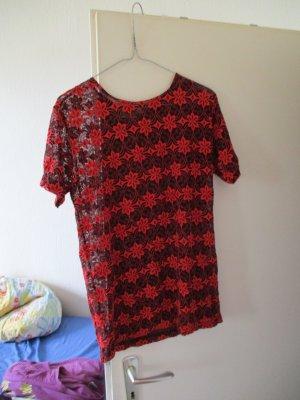 rot/schwarzes Spitzenshirt