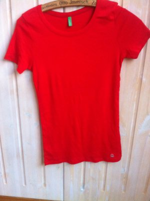 Rot tshirt von Benetton Gr. XS-S