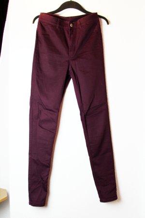 Rot/Violette Röhrenhose von H&M