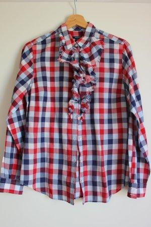 rot-weiß-blau-karierte Bluse von Gant - Gr. 38