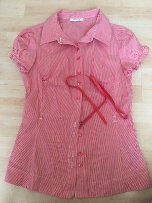 Rot weiß gestreifte Bluse