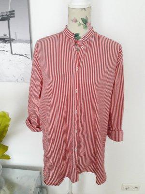 Rot-weiß gestreifte Bluse, Hemd made in Italy von Aglini