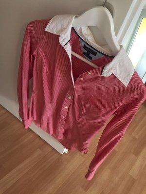 Rot-Weiß gestreifte Hilfiger Bluse