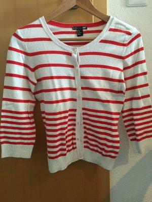rot weiß gestreifter Cardigan von H&M