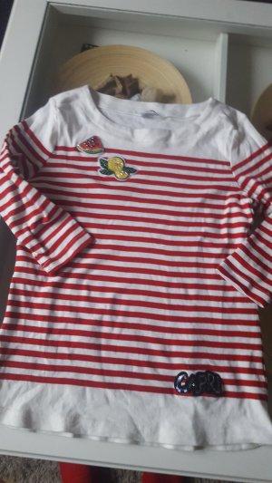 Rot-weiß gestreifter Pulli von Zabaione