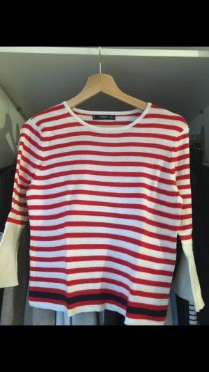 Rot/weiß gestreifter Pullover von Mango in S