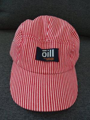 Rot-weiss gestreiftes Basecap von Oill