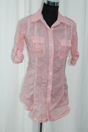 rot, weiß gestreiftes Blusen-Hemd Größe M von Zara