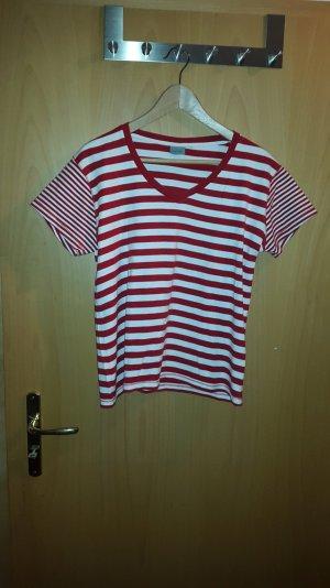 rot/weiß gestreiftes Shirt