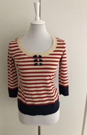 Rot/weiß gestreiftes Shirt mit 3/4 Ärmeln