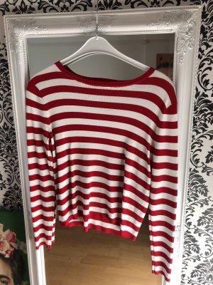 Mango Sweatshirt wit-rood