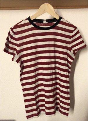 Rot/weiß gestreiftes T-Shirt
