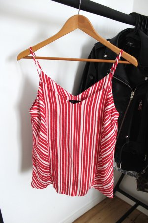 New Look Strappy Top white-red