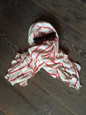 Rot-weiß gestreiftes Tuch