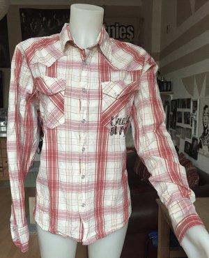 Rot/weiß karierte Bamboo Hemd L