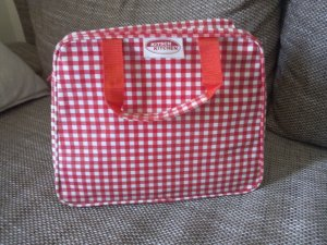 Carry Bag red-white