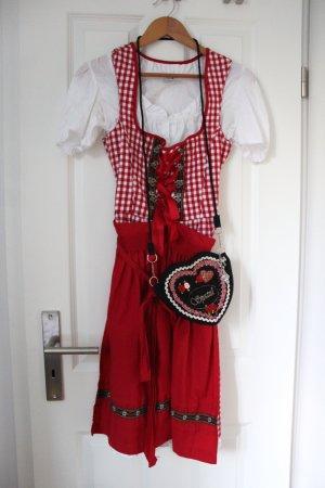 Rot weiß kariertes Dirndl mit Bluse