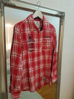 Rot-weiß kariertes Flanell-Hemd von SOCCX, Größe M