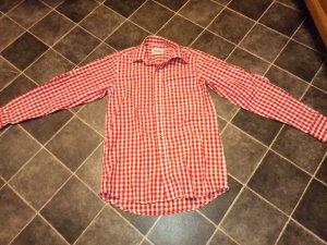 Rot Weiß kariertes Trachtenhemd