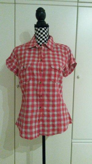 rot weiße Logg H&M Bluse