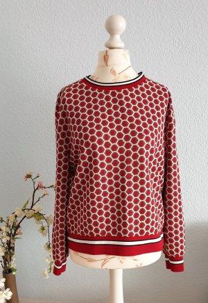 rot-weißer, oversized Sweater mit Wabenmuster von H&M, GP&JBaker Kollektion 2018
