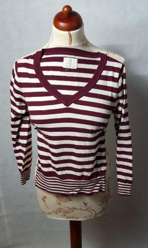 Rot Weißer Pullover Gr. 36