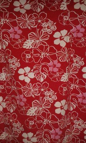 rot weißes Blumen Kleid von H&M Sommer Strand Kleid