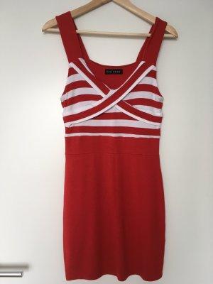 Rot weißes enges Sommerkleid