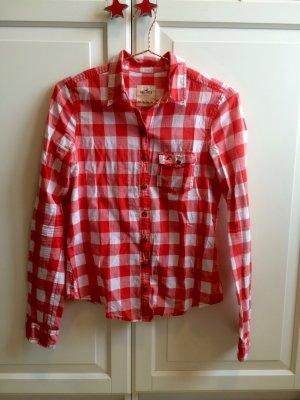 Rot-weißes Karo-Hemd Hollister