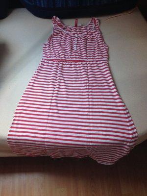 Rot weißes Sommerkleid von h&m