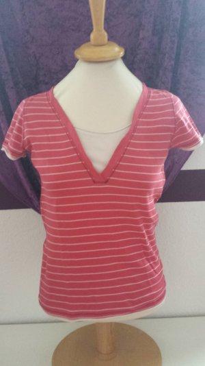 rot weißes T-Shirt von Esprit, Gr. M / 38