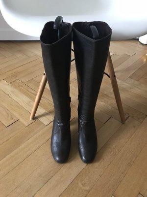 Billi Bi Heel Boots brown red leather