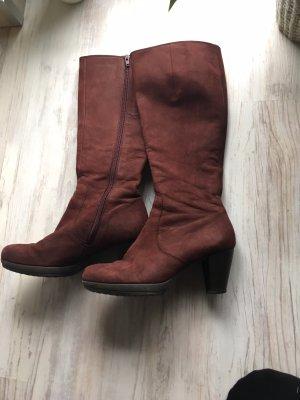 Rotbraune Stiefel von Gabor