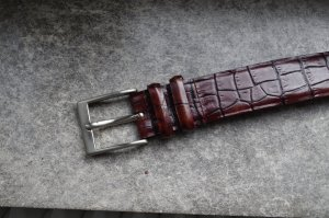 Leather Belt brown red leather