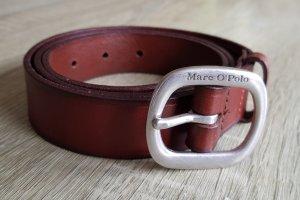 Rotbrauner Ledergürtel von Marc O'Polo in Gr. 90