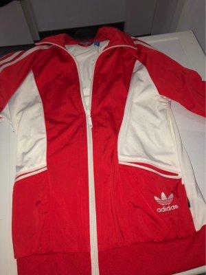 Rote Adidas Strickjacke