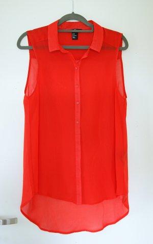 rote ärmellose Bluse H&M